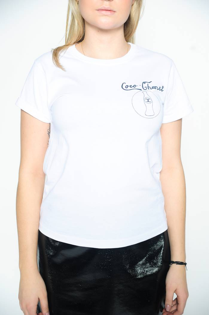 T-SHIRT DASH MY BUTTONS BIAŁY COCO-CHANEL